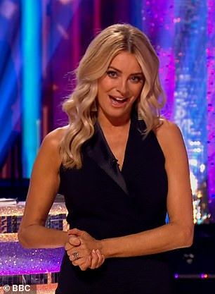 Always on trend: Tess never fails to wow with her outfits on Strictly