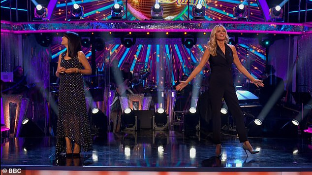 Presenters: Tess and Claudia looked sensational in their outfits on Saturday night