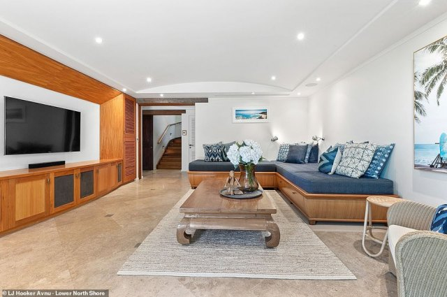Spacious: The sprawling property will provide plenty of room for Matt and wife Luciana to hold social gatherings with A-list friends such as the Hemsworths
