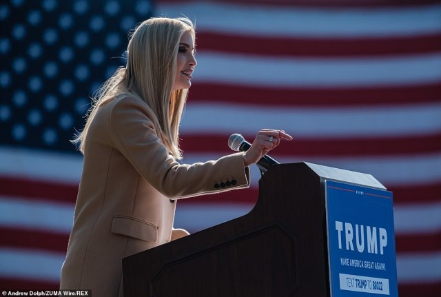 The first daughter's visit and remarks come with just under 72 hours left before Election Day as her father, President Donald Trump makes a whirlwind tour of the Midwest