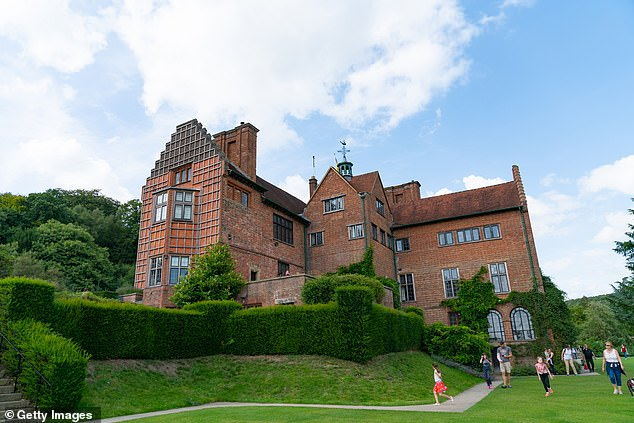Chartwell (pictured), Sir Winston Churchill's family home in Kent, was listed because the wartime leader had opposed Indian self-government in the 1930s