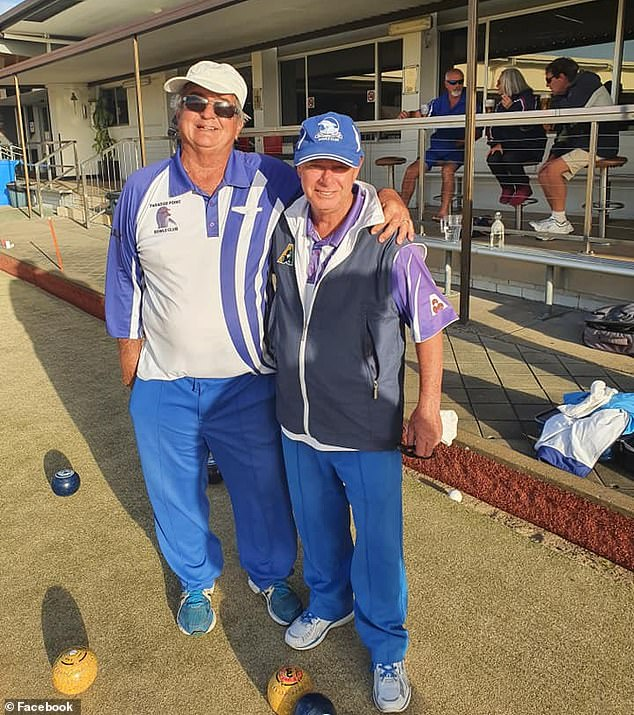 Alan Thomas Elliott (left ) copped a life ban from Paradise Point Bowls Club on the Gold Coast