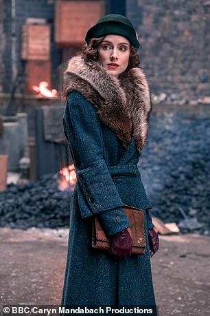 Sophie is pictured as Ada in Peaky Blinders