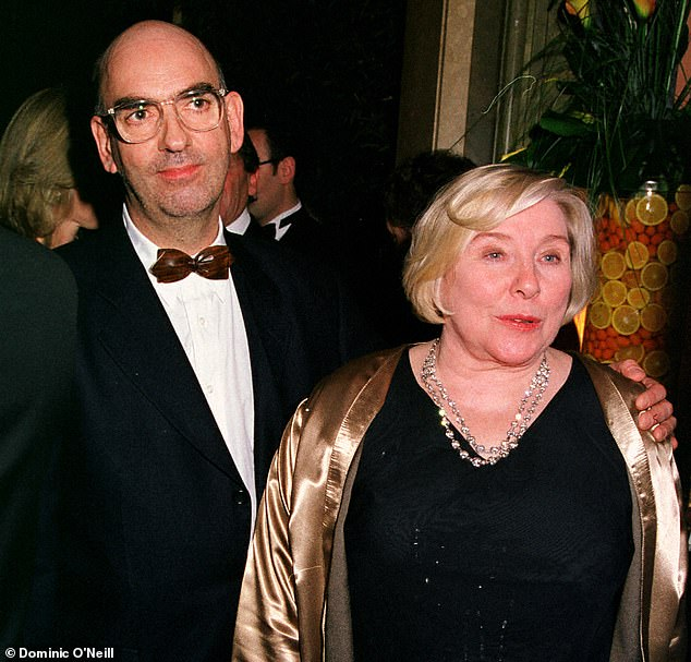 Fay Weldon startled audience with an extraordinary story of domestic abuse in an enduring marriage.Nick Fox, she alleged, had driven her to an overdose and left her penniless after years of coercive control (pictured together)