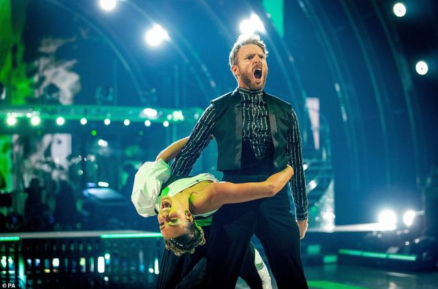 Full of passion!JJ Chalmers ended up with a score of 16 points for his Paso Doble to Believer by Imagine Dragons alongside his dancing partner Amy Dowden