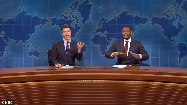 Close enough: Michael Che joked about the nuptials:'You just married Scarlett Johansson and I just bought an electric bike. We¿re both doing equally great'