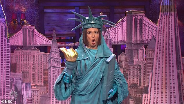 But Maya Rudolph appeared in a Statue of Liberty costume and sang a parody of Stephen Sondheim¿s I¿m Still Here to show New York City was still surviving amid the pandemic