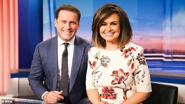 What feud? Lisa Wilkinson, 60, hinted at former Today co-host Karl Stefanovic, 46, joining The Sunday Project this week as a guest, three years after her exit from Nine over a reported gender pay gap dispute. Both are pictured on Today