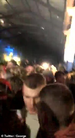 A 500-strong crowd was broken up an illegal rave in a warehouse in Yate, near Bristol