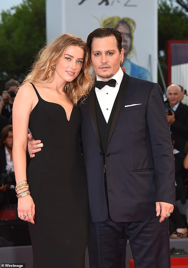 Court case: The actor, 57, will discover whether he has won his blockbuster libel action against a newspaper which labelled him a 'wife beater' (pictured Depp and Amber in 2015)