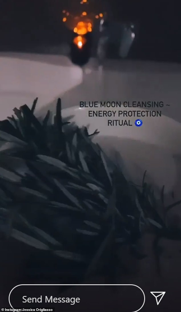 Soothing:'Blessings on this Blue Moon witches,' the Untouched singer concluded, and also shared a short video of the ritual on her Instagram Stories