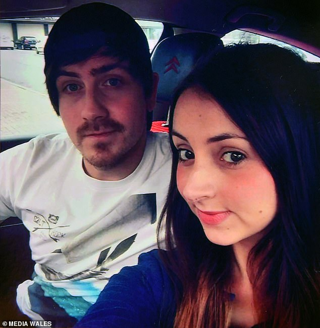 Jessica (pictured with her partner) was released from hospital at the start of October and the family have moved into an empty house belonging to a relative