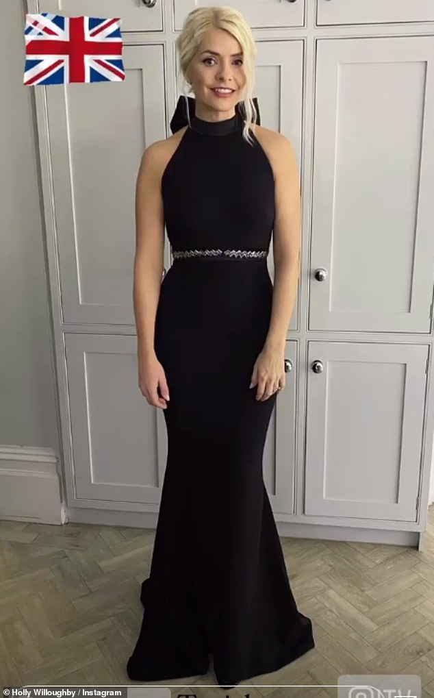 Wow!Holly Willoughby took to Instagram on Sunday to give fans a glimpse at her glamorous outfit ahead of the annual Pride Of Britain awards ceremony