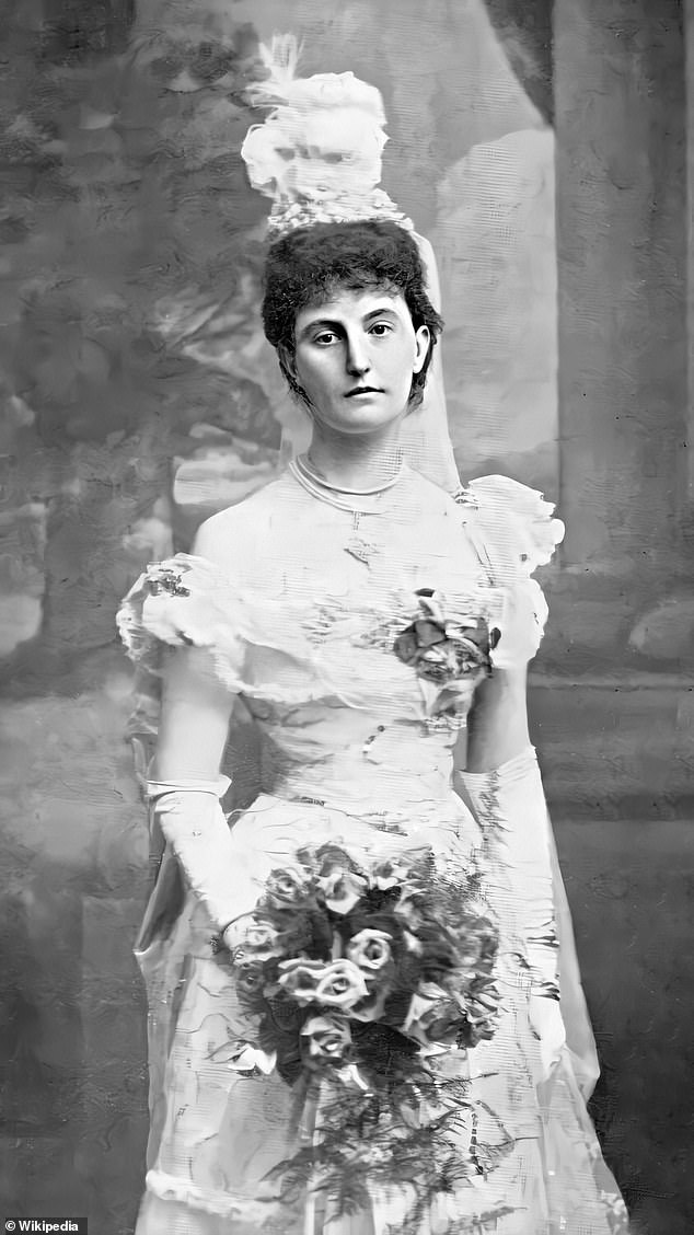 Background:Winifred Cochrane, who is said to haunt the towers in anger at her tyrannical husband, was an extremely wealthy heiress (pictured on her wedding day in1878)
