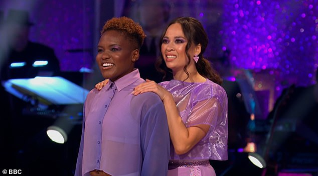 Performance:It comes after Nicola and Katya dazzled with an energetic boxing-inspired routine on Saturday night's second live show - which left some viewers 'with tears in their eyes'