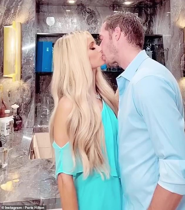 Smitten:In the love department, the blonde has been dating her boyfriend Carter Reum - a writer and entrepreneur