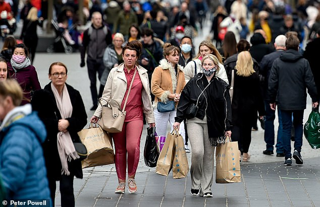 With only 26 days of shopping before Christmas crowds are seen flocking to city centres