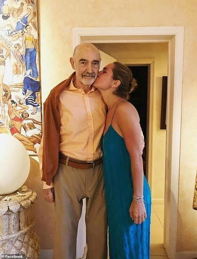 She wrote: 'A surreal goodbye to my best friend, mentor and dear grandfather. Please respect my families privacy while we process this news'