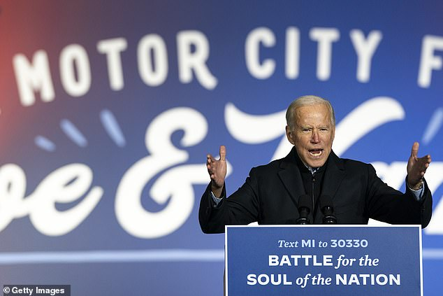 In Pennsylvania, another swing state, only32 per cent say they voted early or absentee ¿ and a vast majority in the state self-reported favoring Democratic nominee Joe Biden, with75 per cent saying they voted for Biden compared to the 22 per cent who say they cast their ballot for Trump
