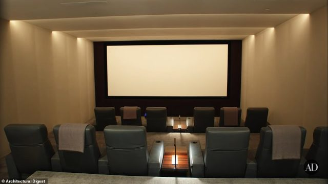 Opportunities for fun are endless at the villa which features an in-home movie theater with a candy station, a billiard room, pools, a spa and bars