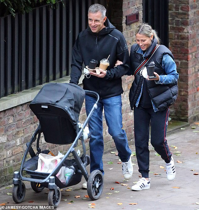 Family unit:Nicole Appleton and her boyfriend Stephen Haines appeared in high spirits as they stepped out on a coffee run on Sunday