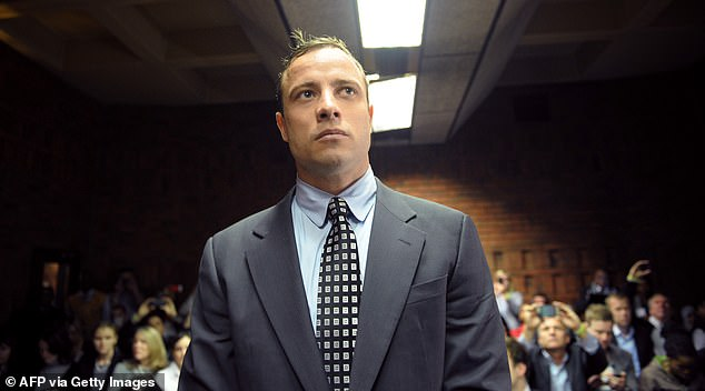 Pistorius in court in 2015, during a lengthy legal process which eventually saw him convicted for Steenkamp's murder and jailed for more than 13 years