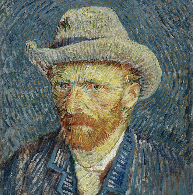 Vincent Van Gogh painted this self-portrait, 'Self-Portrait with Grey Felt Hat,' in the winter of 1887–88