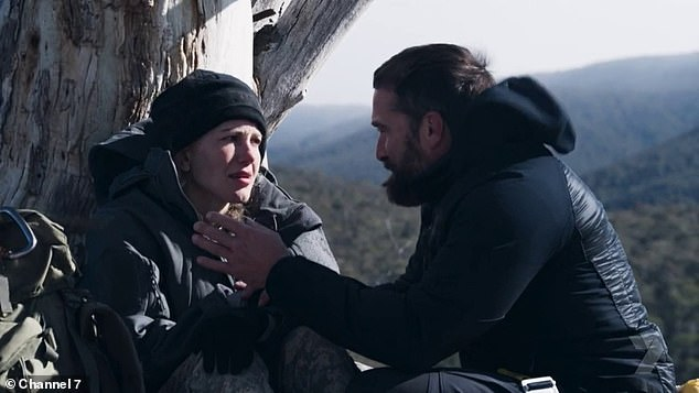 'I just couldn't... I was just so scared. I don't know. Fear of getting cold again, jumping out,' she tearfully told Ant Middleton