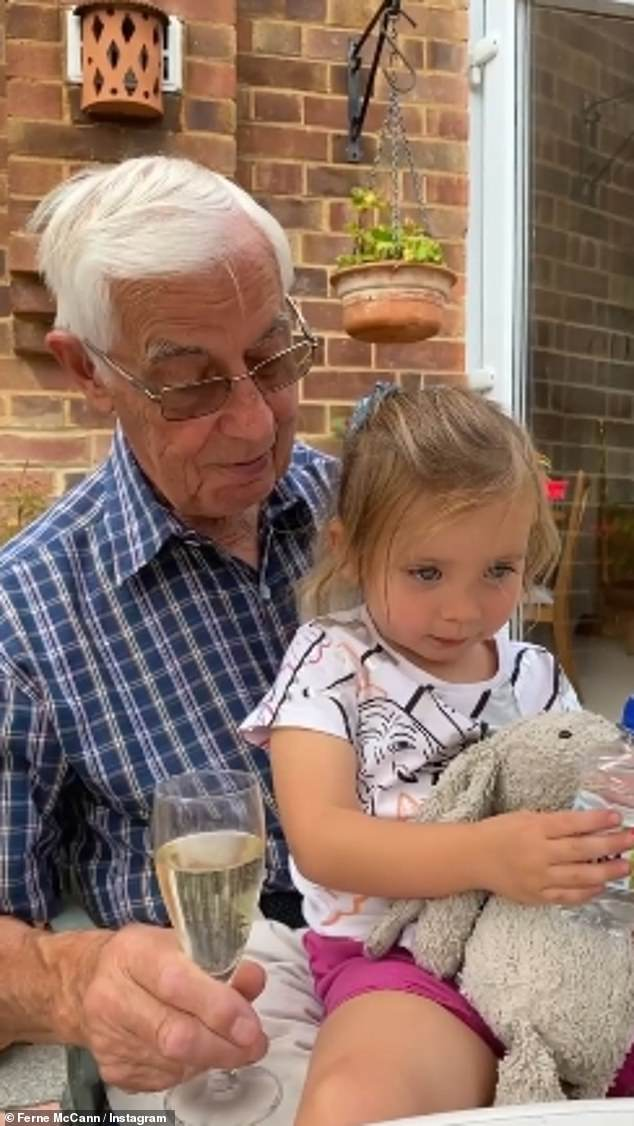 Tight knit family: Ferne shared a sweet video of Sunday bonding with her Grandfather