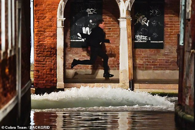 Back on!Tom Cruise returned to shoot action scenes for Mission Impossible 7 in Venice on Monday as production resumed after filming was suspended