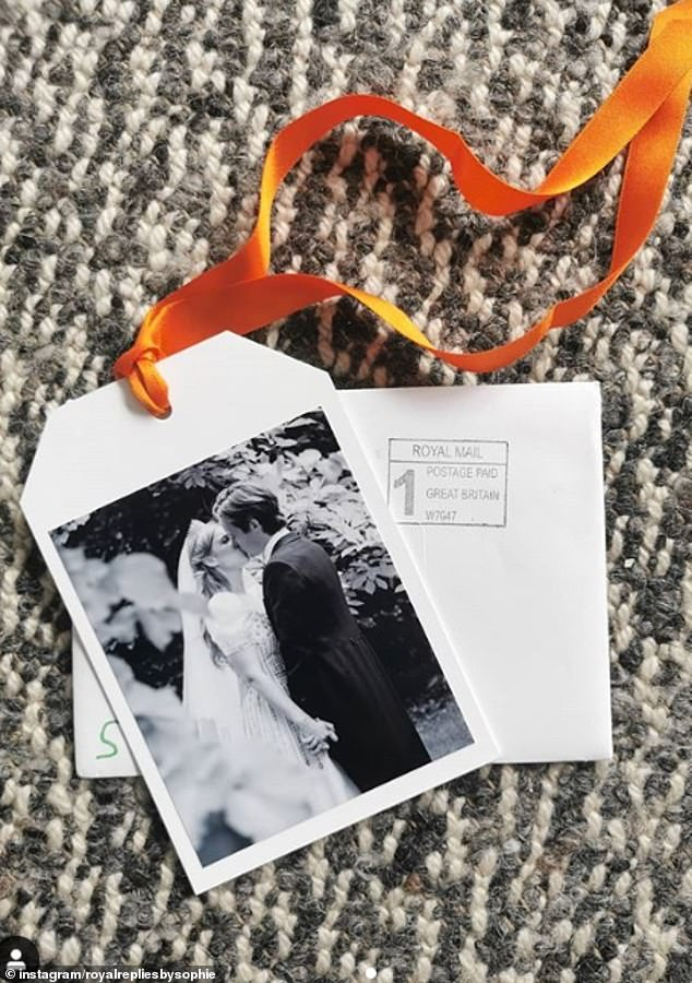 Proud mother the Duchess of York has shared an unseen photograph of Princess Beatrice, 32, exchanging a kiss with her new husband Edoardo Mapelli Mozzi, 36, on her wedding day