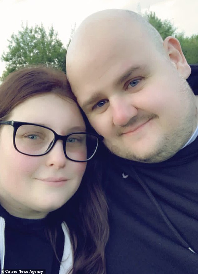 Even Abbie's boyfriend Alan Snaddon, 32,(pictured together) has come under fire from people who accuse him of hitting his partner, and she says she often dreads to think what people are thinking if they see her injuries when she is with him