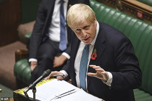 But Boris Johnson, pictured in the House of Commons yesterday, said the Government has a 'moral duty' to keep schools open