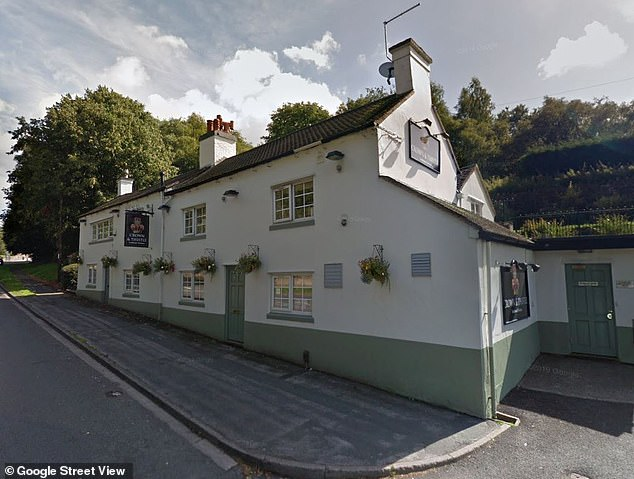 Goldspink was present when her husband knocked a man to the ground and ripped the landlord's shirt at the pub (pictured)