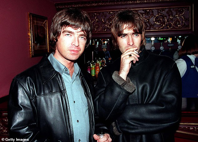 Feud: The two brothers (above in 1995) have been trading insults in a decade-long feud ever since Oasis famously split up at their final concert in Paris in 2009