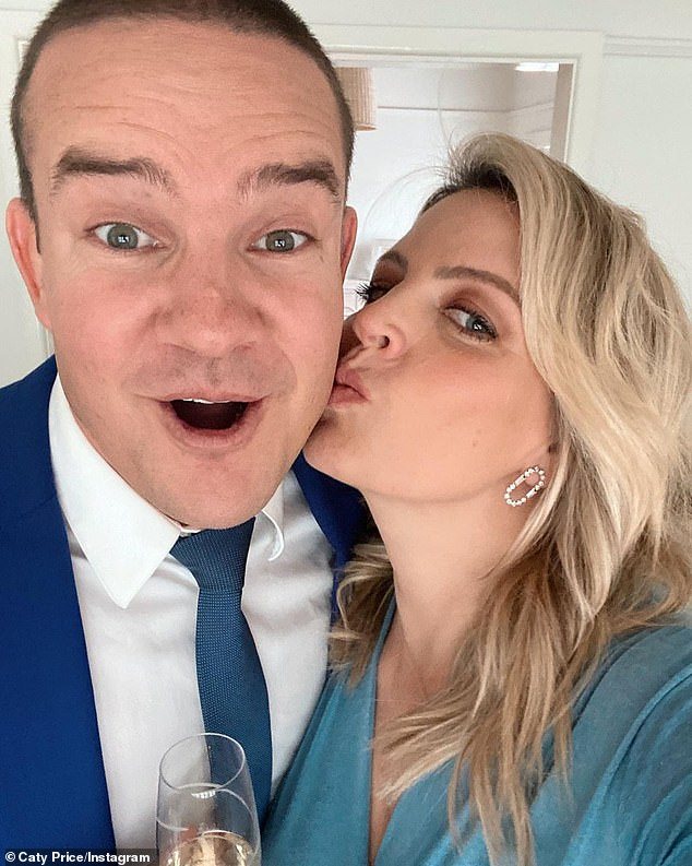 Green, 39, met Channel 10 racing reporter Caty Price, who is dubbed the Princess of the Punt, last September while watching his old club play