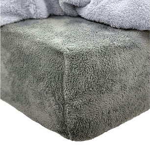 Brentfords Teddy Fleece Fitted Bed Sheet in Charcoal Grey