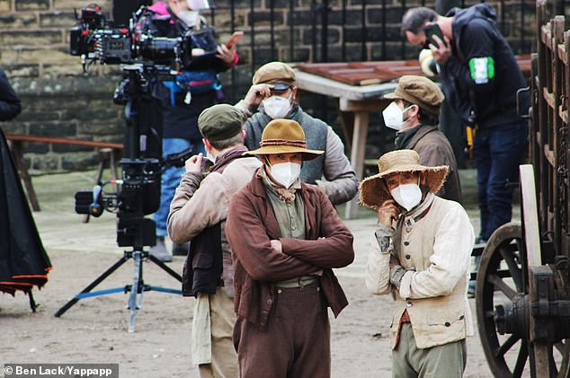 Restrictions:The insider said the cast always keep their masks close to hand so that they can put them on whenever they're not filming