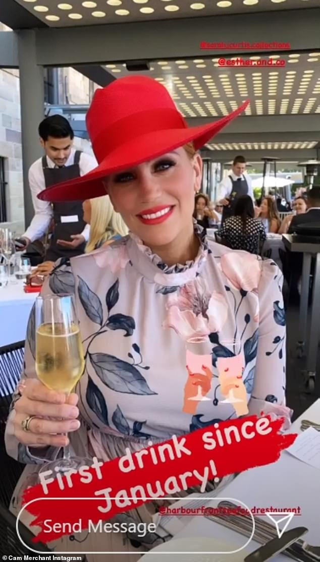 Woo!In one of the posts, Jules enjoyed a glass of wine and explained it was her first drink of alcohol since January, seeing as she'd spent most of the year pregnant