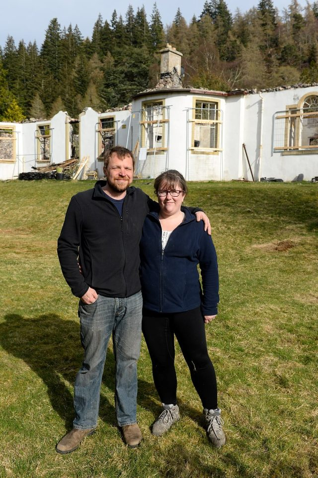 Keith Readdy purchased Boleskine House on the banks of Loch Ness with wife Kyra (pictured together) in July 2019 before placing it into the care of a charitable foundation