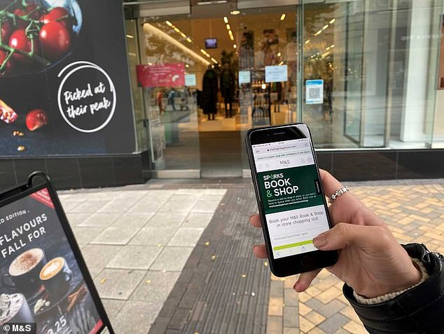 Have you booked?Shoppers at Marks & Spencer can now jump the lockdown supermarket queue by booking a timed slot