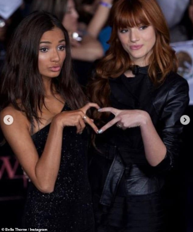 BFFs:Bella Thorne has shared throwback snaps of herself with pal Pia Mia as she commemorates their long-term friendship
