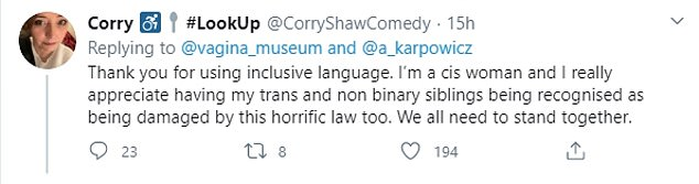 Some praised the museum for their 'inclusive language' in light of the protests in Poland
