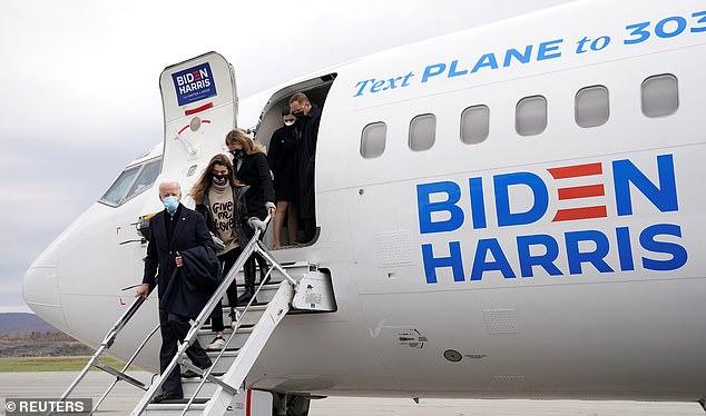 Joe Biden arrives in his hometown Scranton to make a final play for Pennsylvania votes