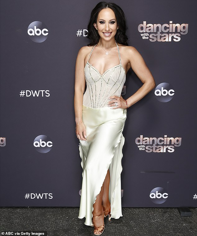 Looking fab:Cheryl Burke, 36, has suggested that she might be looking at the prospect of retirement from Dancing With The Stars; seen on Monday on the set of DWTS