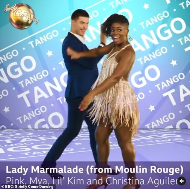 Racy: Clara and Aljaž Skorjanec with Tango to Lady Marmalade from Moulin Rouge