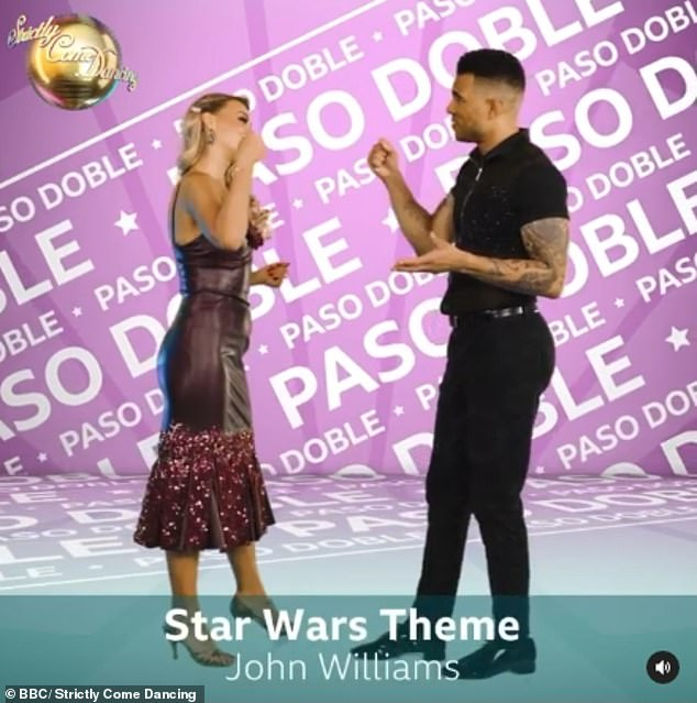 Dramatic: Jason Bell and Luba Mushtuk will dance the Paso Doble to the Star Wars Theme by John Williams from Star Wars