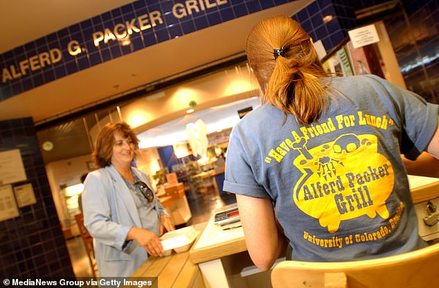 The University of Colorado Bolder has opened the Alferd Packer Grill, with the tagline 'Have a Friend For Lunch'
