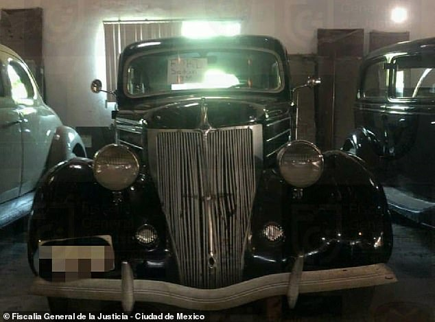 Pictured above is one of the 41 classic automobiles that were confiscated last Friday when Mexican authorities raided the home of Raymundo Collins, Mexico City's former police chief and director for the Housing Institute. Mexico's Attorney General's Office filed an extradition request with the United States based on knowledge that he fled there after he was brought up on corruption charges in January