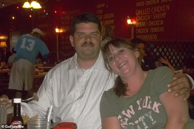 Jonathan, a retired Marine, was struck by several rounds during the shootout and died in wife Aimee's arms